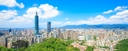 Photo for morning taipei city panorama in the taiwan - Royalty Free Image