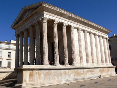 Roman temple Maison Carrée, Nîmes, France