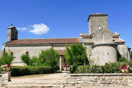 Photo pour Carolingian Oratory of Germigny-des-Pres, Loiret, France - image libre de droit