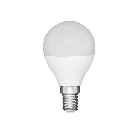 Photo for Close-up view of LED white light bulb isolated on white background - Royalty Free Image