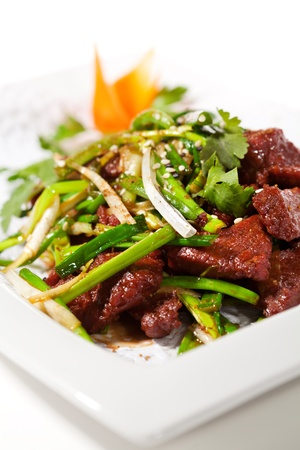 Chicken Cuisine - Fried Beef with Onions and Chinese Spice