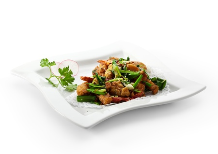 Stir Fried Frog Legs with Greens