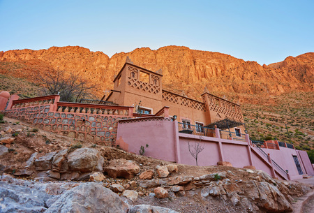 Hotel in the Morrocan Gorges du Dades