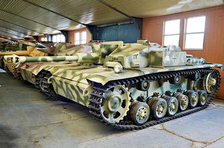 MUSEUM KUBINKA, MOSCOW REGION, RUSSIA - Aug 23, 2014: German assault gun Sd.Kfz. 142. StuG III StuG 40 Ausf. F. 1942