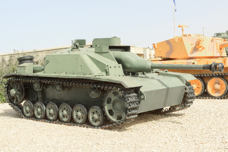 LATRUN, ISRAEL - APRIL 02, 2010: StuG III Ausf G in Yad La-Shiryon The Armored Corps Memorial Site and Museum at Latrun