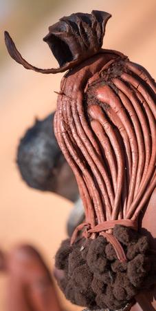 Himba woman hair closeup
