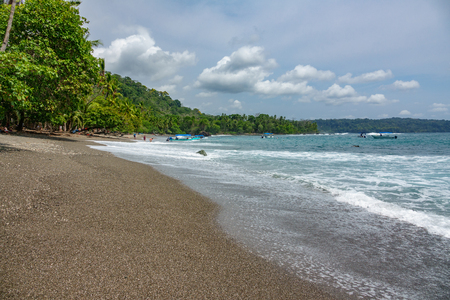 Corcovado National Park - beach view with tourists