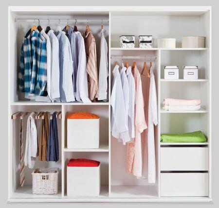 Photo pour Wardrobe for home on a white background - image libre de droit