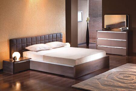 Photo pour Bedroom interior in modern style - image libre de droit
