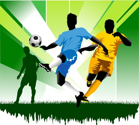 soccer design element, green background