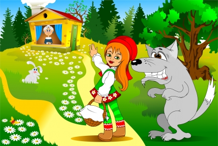 old story in modern processing, illustration, vector