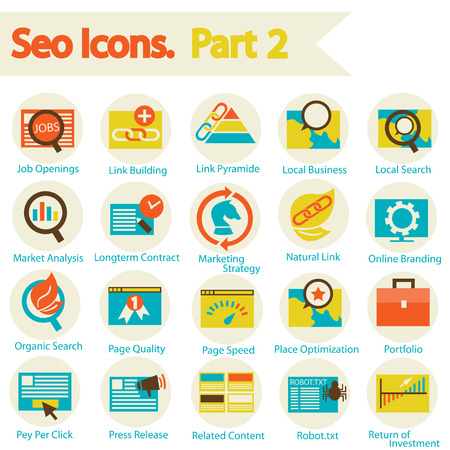 SEO Icon set part 2