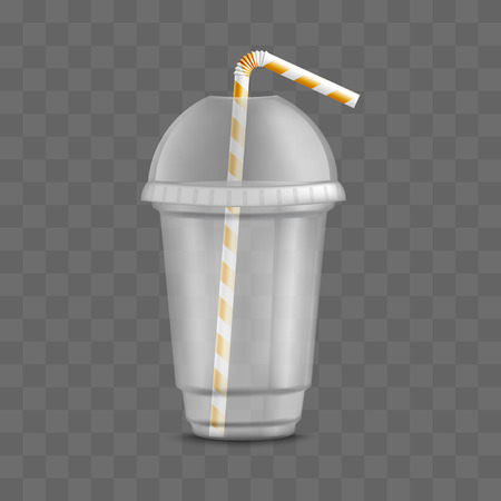 Vector Transpa Plastic Cup With