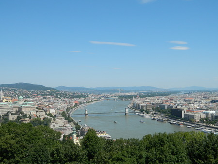 The Danube river seen from Gellert Hill