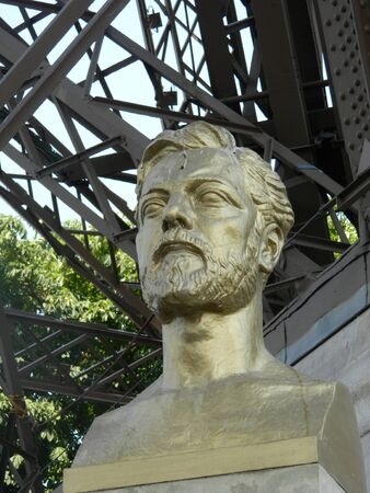 Statue of the famous designer of the Eiffel Tower.