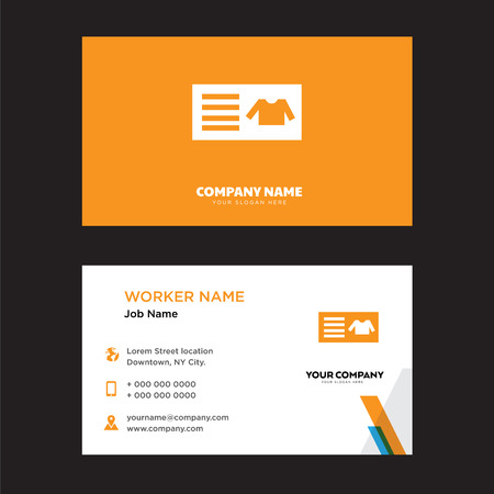 woman id card business design template, Visiting for your company, Modern Creative and Clean identity Card Vector