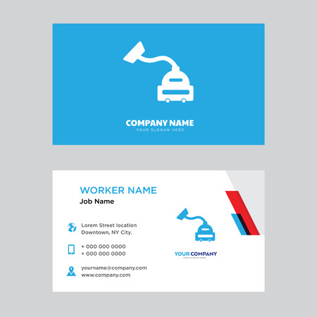Ilustración de Vacuum cleaner business card design template, Visiting for your company, Modern horizontal identity Card Vector - Imagen libre de derechos