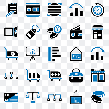 Set Of 25 Transparent Icons Such As Coin Presentation