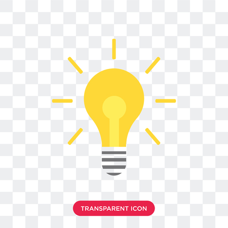 Illustration pour Light bulb vector icon isolated on transparent background, Light bulb logo concept - image libre de droit