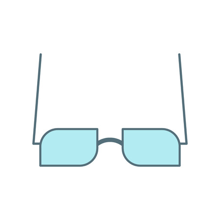 Eyeglasses icon vector isolated on white background for your web and mobile app design, Eyeglasses logo concept
