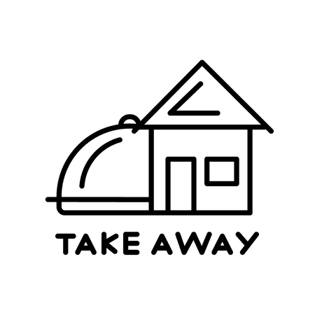 Illustration pour Take away icon vector isolated on white background, Take away transparent sign , thin line design elements in outline style - image libre de droit