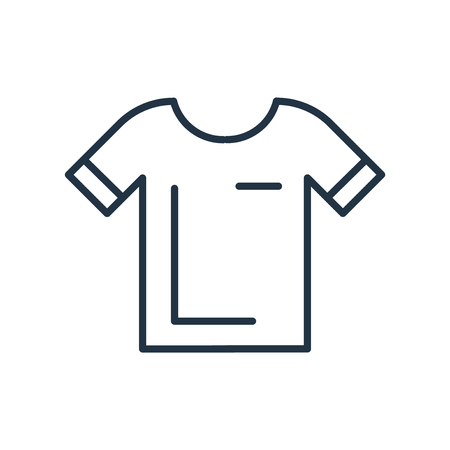 Illustration for Shirt icon vector isolated on white background, Shirt transparent sign - Royalty Free Image