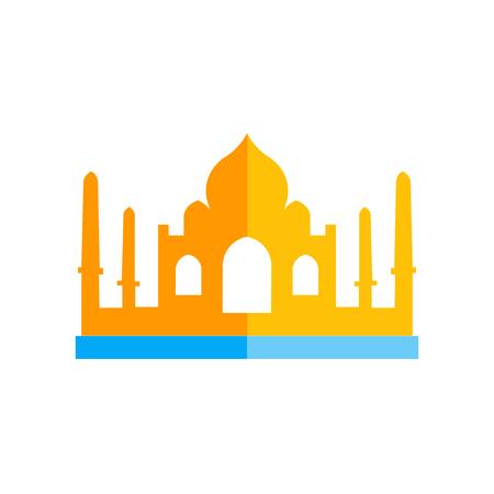 Ilustración de Taj mahal icon vector isolated on white background for your web and mobile app design, Taj mahal logo concept - Imagen libre de derechos