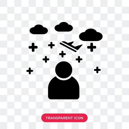 Stewardess vector icon isolated on transparent background, Stewardess logo concept