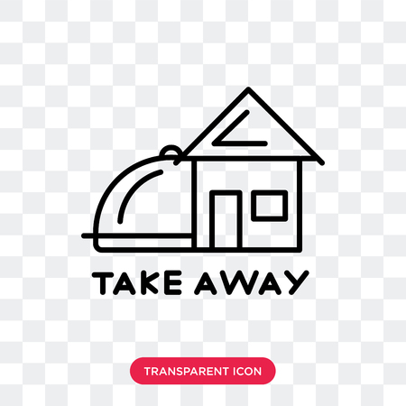 Illustration pour Take away vector icon isolated on transparent background, Take away logo concept - image libre de droit