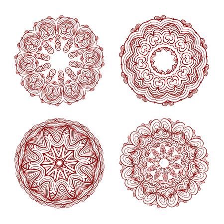 Illustration pour Four beautiful orient elements for your design - image libre de droit