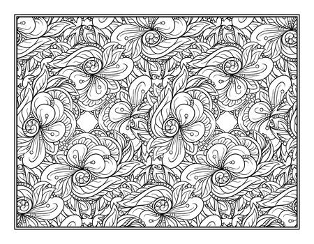 Illustration pour Vector abstract pattern page for antistress coloring - image libre de droit