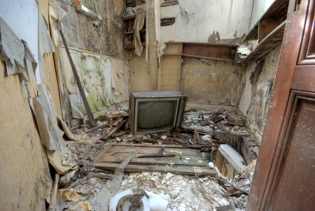 Broken Tv in an abandoned house