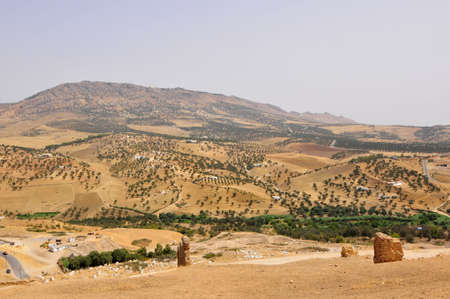 Panoramic shot of the landscape near Fes