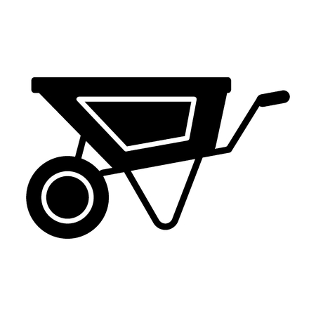 Illustration for Cart solid icon. vector illustration isolated on white. glyph style design, designed for web and app. Eps 10 - Royalty Free Image