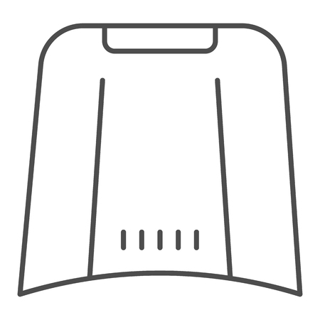 Illustration for Car hood thin line icon. Automobile bonnet vector illustration isolated on white. Car part outline style design, designed for web and app. - Royalty Free Image