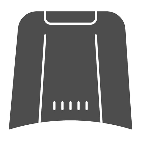 Illustration for Car hood solid icon. Automobile bonnet vector illustration isolated on white. Car part glyph style design, designed for web and app. - Royalty Free Image