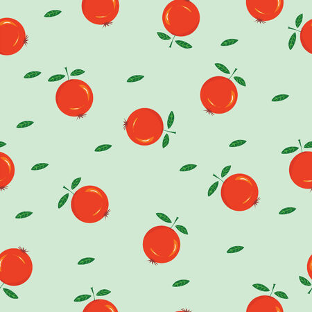 Red berries vector seampless pattern