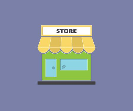 Illustration for Clip art illustration of colorful grocery store, supermarket - Royalty Free Image