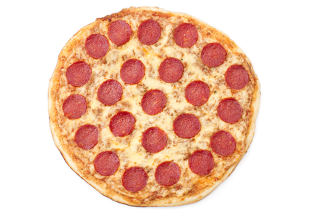 Pepperoni Pizza, isolated on white background