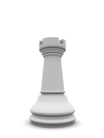 white rook. 3d chess  game