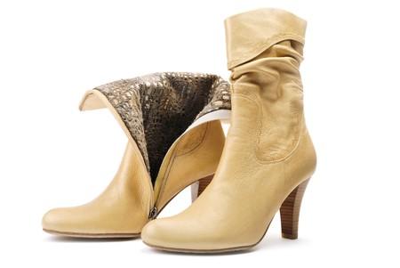 Photo pour pair of leather women's shoe - image libre de droit