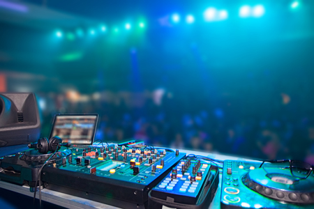 Photo for nightclub parties DJ. sound equipment - Royalty Free Image