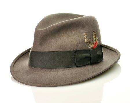 vintage gray hat