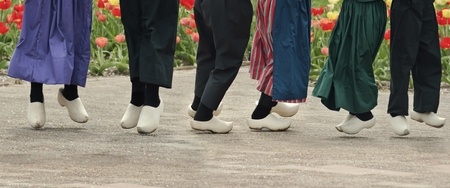 Dutch Dancers With Wooden Shoes On