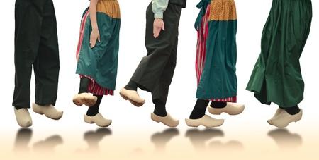 Dutch Dancers On White Background