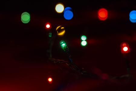 Photo pour Christmas lights on the background - image libre de droit