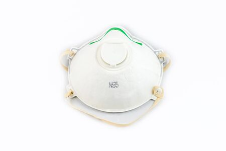 Foto de Protection respirator for Filter face mask safeguard on white background - Imagen libre de derechos