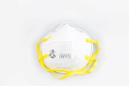 Photo pour Protection respirator for Filter face mask safeguard on white background - image libre de droit