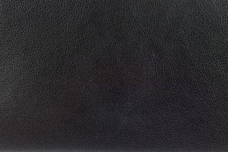 Photo pour Closeup surface black leather texture background   - image libre de droit