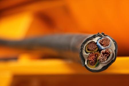 Photo pour electric cable - image libre de droit